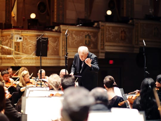 Detroit Symphony Orchestra led by music director Leonard