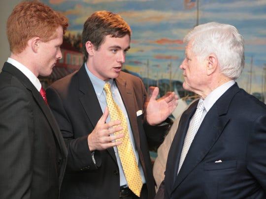 Then-senator Edward M. Kennedy with his great nephews