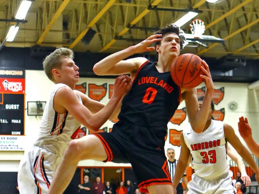 Loveland at Anderson Boys Basketball