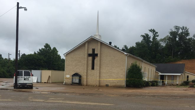 Big Rock Baptist Church was heavily damaged by flash flooding, and two other Stewart County churches also received some damage.