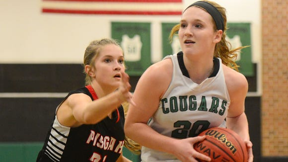 Ciera Chandler, right, won the fan vote for the best girl's basketball player in WNC this season.