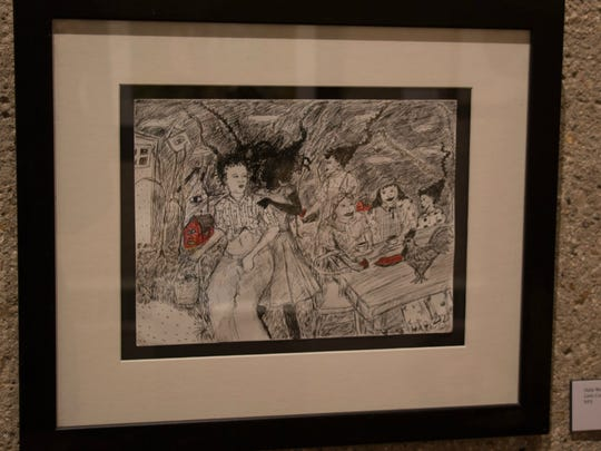 Teenage collector Sequoia Blackwell treasures a drawing by her aunt, the artist Della Wells.