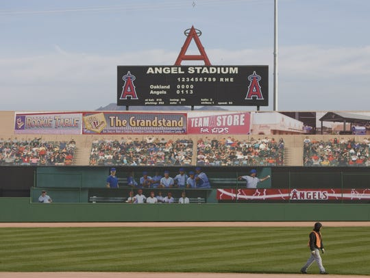 The replica of Angel Stadium at Big League Dreams in
