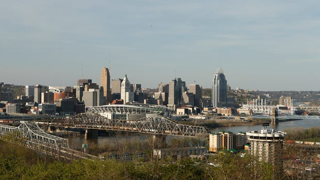 Cincinnati, seen from Devou Park in Covington, ranks highly on things such as tree cover, water resources and sustainability efforts.