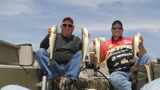 Kenny Shear and Mark Gwizdala connected with a bunch of Saginaw Bay walleyes.