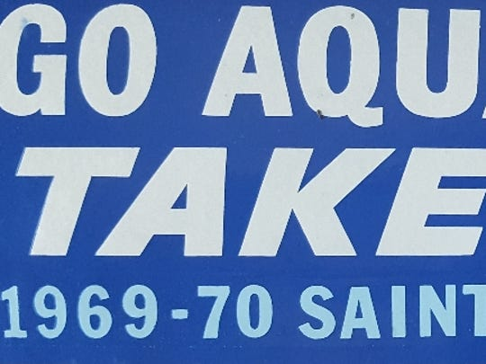 This is a bumper sticker supporting the 1970 St. Xavier swim team.