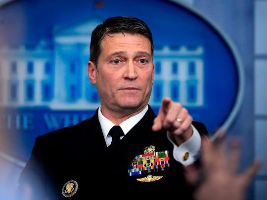 White House physician Dr. Ronny Jackson.