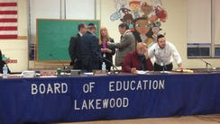 School district officials, including Schools Superintendent