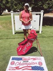 Aucilla Christian's Megan Schofill celebrates a win