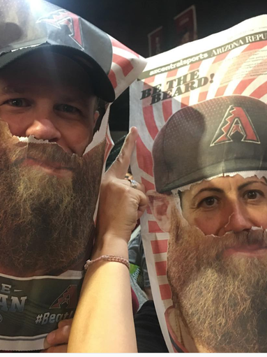 Diamondbacks fans took advantage of a cutout in Monday's