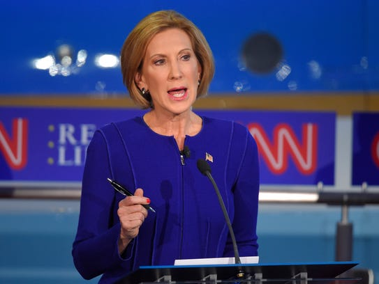 Republican presidential candidate, businesswoman Carly