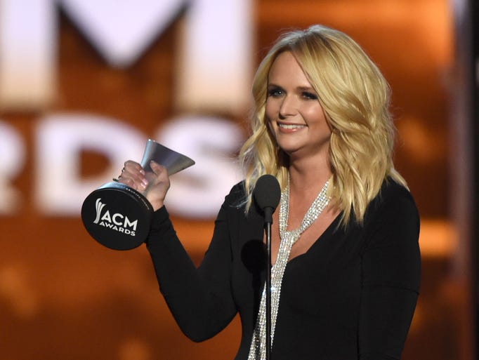 Recording artist Miranda Lambert accepts the Female