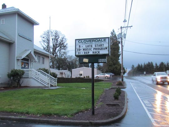 Cloverdale Elementary School is located on busy Parrish Gap Road.
