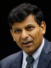 Reserve Bank of India Governor Raghuram Rajan speaks during a press conference after the announcement of the first bi-monthly monetary policy statement 2015-16 in Mumbai, India, Tuesday, April 7, 2015. The RBI kept unchanged the repo rate and cash reserve ratio in the central bank's first monetary policy review of this financial year.