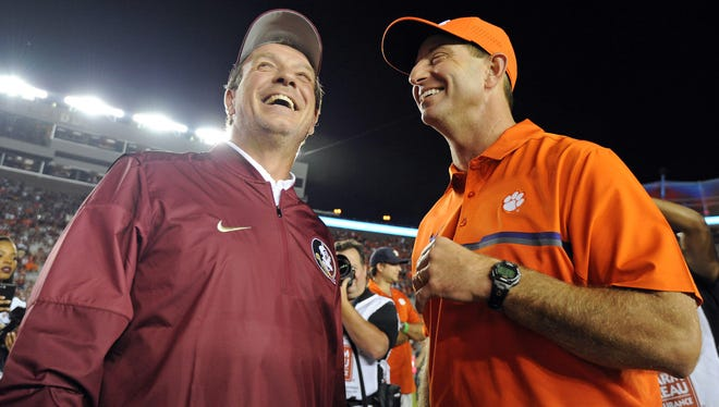 Florida State's Jimbo Fisher and Clemson's Dabo Swinney have established one of the greatest coaching rivalries in college football.