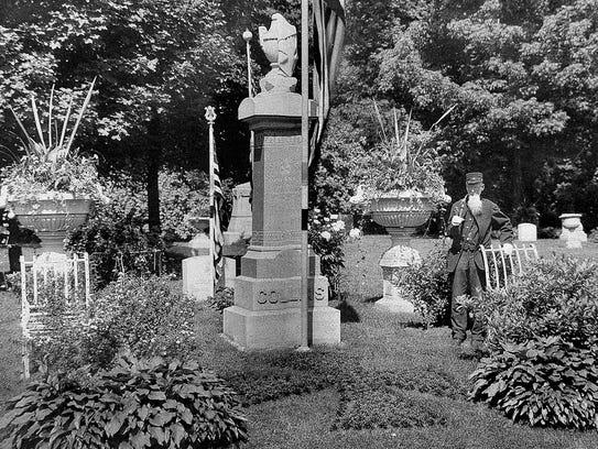 Frances Collins, a Civil War veteran, used his cemetery