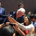 Thousands came to see former president of the United States, Bill Clinton, speak in the Satellite Student Union at CSU Fresno on Monday, May 23, 2016.