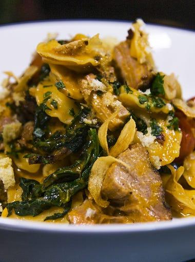 The creste di gallo pasta served at the Ocotillo restaurant in Phoenix, Monday, November 9, 2015.