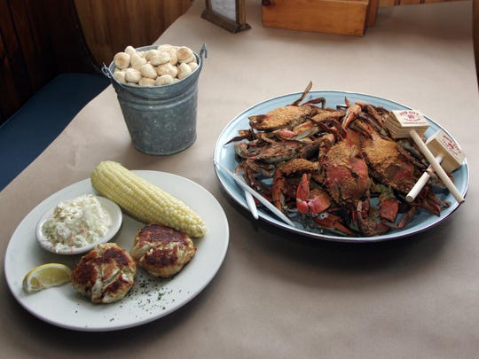 Mud City Crab House's crab cakes, pictured with an order of steamed crabs, will be served during a Feb. 24 fundraising event at the Manahawkin restaurant.