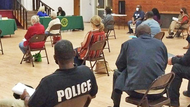 A crowd of people attended the Nov. 16 Blackville Town Council meeting.