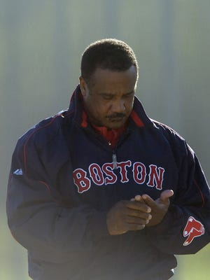 Boston Red Sox hall of famer Jim Rice, shown here in 2009, still spends six weeks a year in Fort Myers for spring training as a guest coach.
