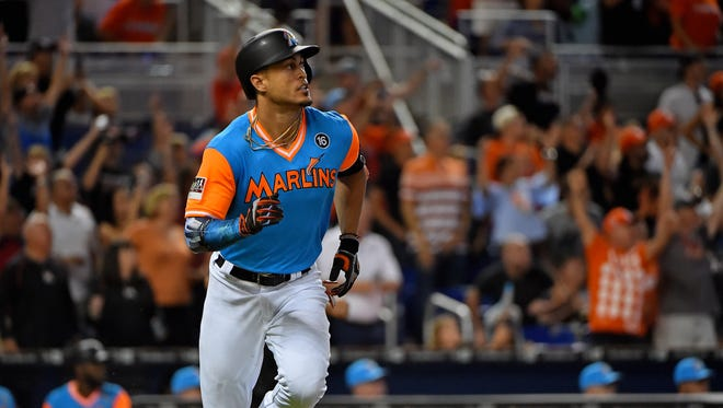 Giancarlo Stanton has to approve any trade.