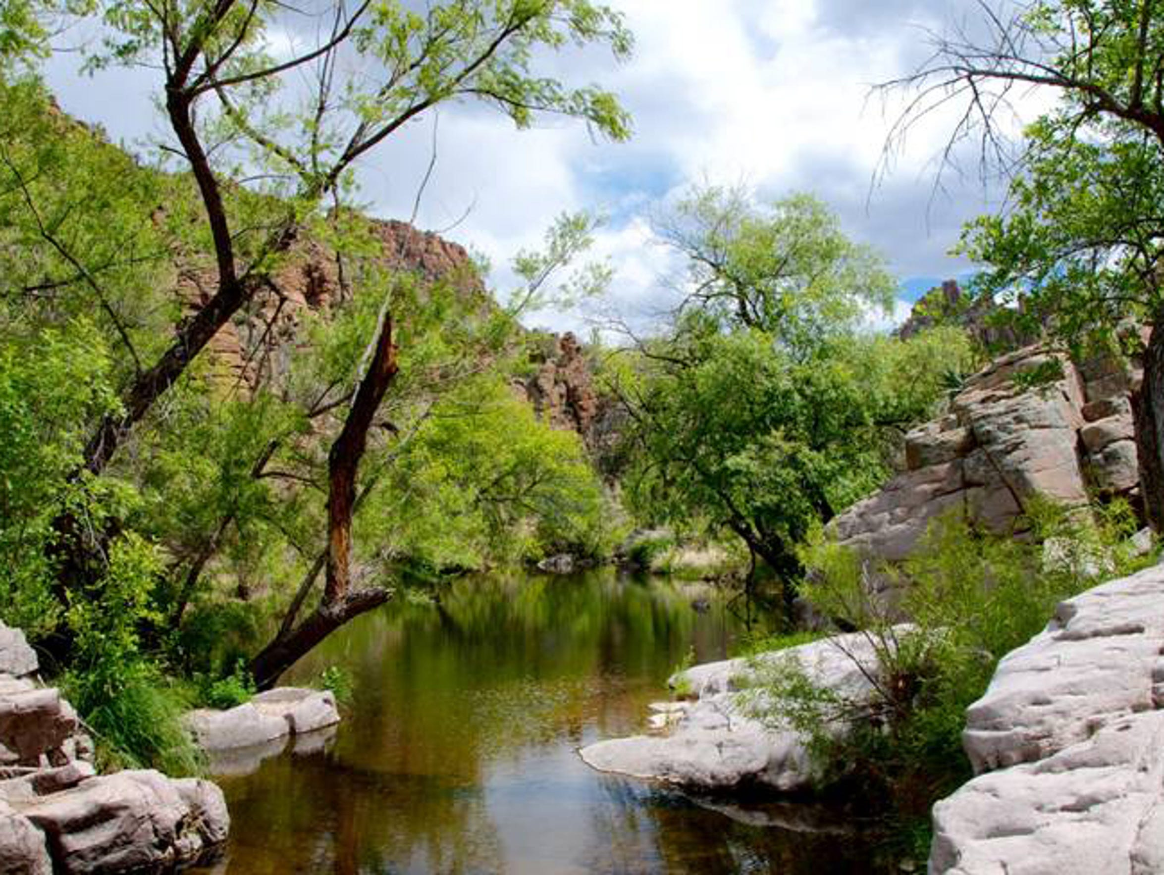 Devil's Canyon, four miles east of Superior and adjacent