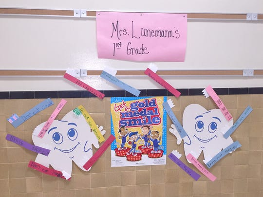 Students in Kara Lunemann's first-grade class at R.M.