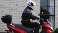 Scooters like this one will have to be registered in North Carolina starting July 1, although law enforcement is offering a 60-day grace period.