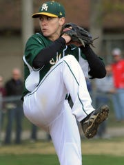 Billy Phillips pitching for St. Mark's.