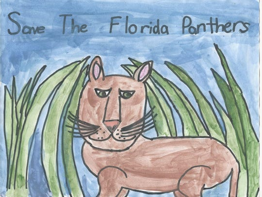"""Cameron Hedge won honorable mention in the 7-8 category of 12th Annual Children's Art Contest """"Coloring the Earth."""""""
