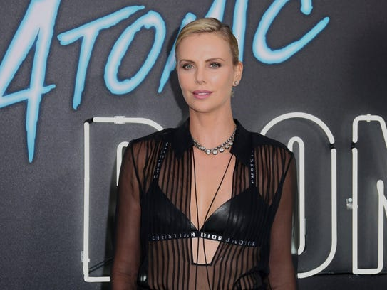 """Charlize Theron arrives at the LA Premiere of """"Atomic"""