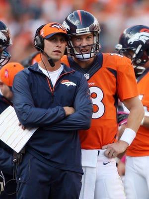 First-year coordinator Adam Gase and quarterback Peyton Manning hold the keys to the Broncos' record-setting offense.