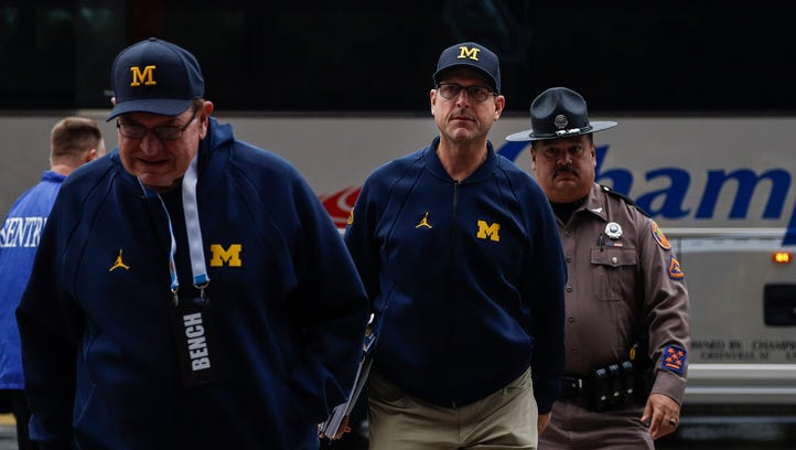 Michigan's Jim Harbaugh making scholarship players earn spots for fall camp
