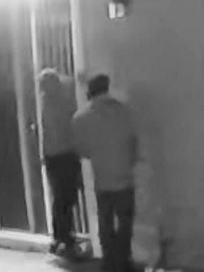 """Video surveillance from a neighbor's home security camera picks up possible suspects in a home invasion robbery early Thursday morning that resulted in """"significant injuries"""" to the elderly female resident of a house in Mountain House."""