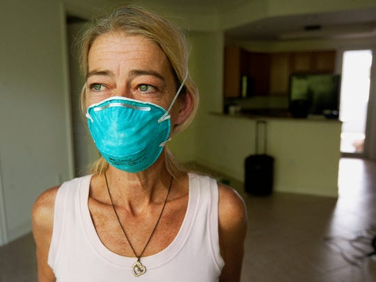 Kelly Smith says mold in a Bonita Springs apartment she rents has displaced her and her 13-year-old son, and is making her sick. Smith says she has asked her landlord to fix the problem but says he has yet to do so.