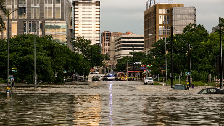 Extreme flooding takes place in Austin, Texas May 25,