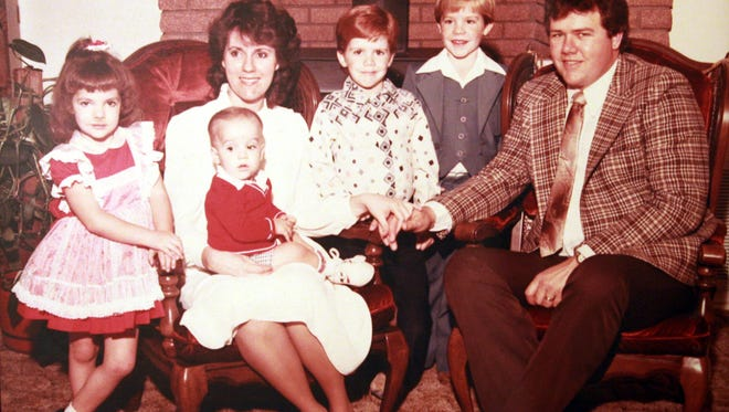 This photograph from the early 1980s shows the Gubler family in LaVerkin before they lost their two oldest sons to a rare disease.