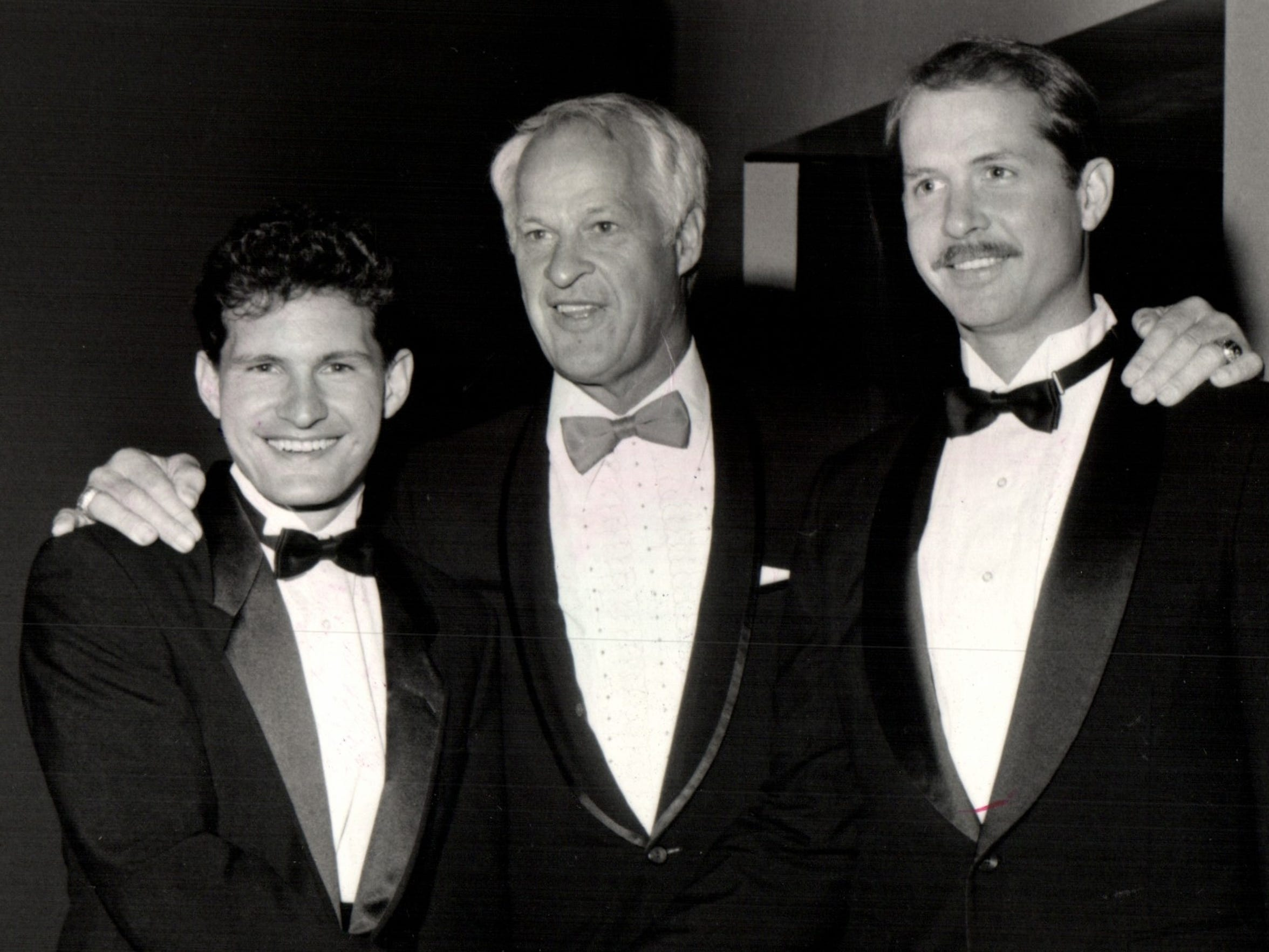 Gordie Howe and his sons, Murray and Marty.