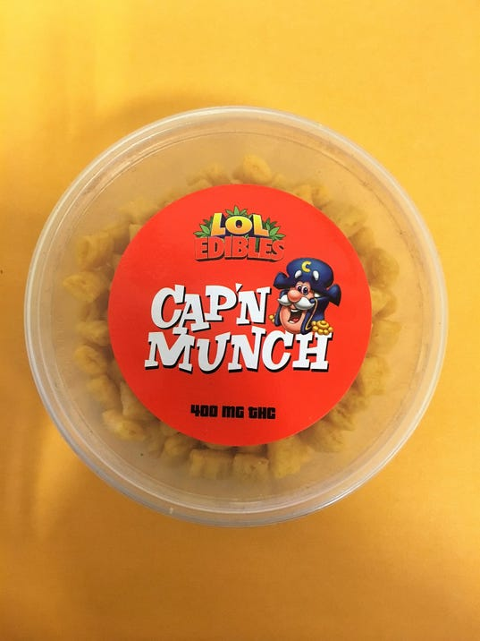 Marijuana concealed in cereal-like container