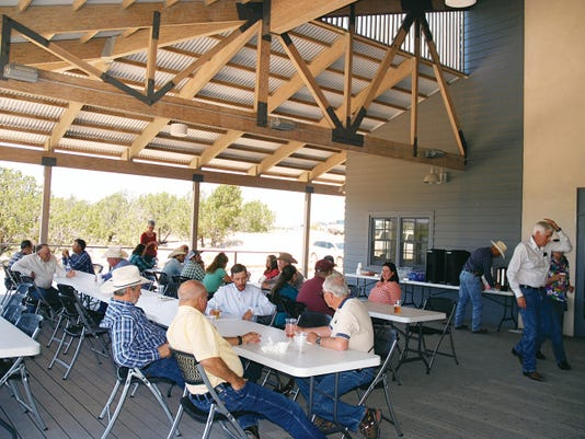 Participants gather for a Beyond the Roundtable seminar at New Mexico State University's Southwest Center for Rangeland Sustainability in Corona.