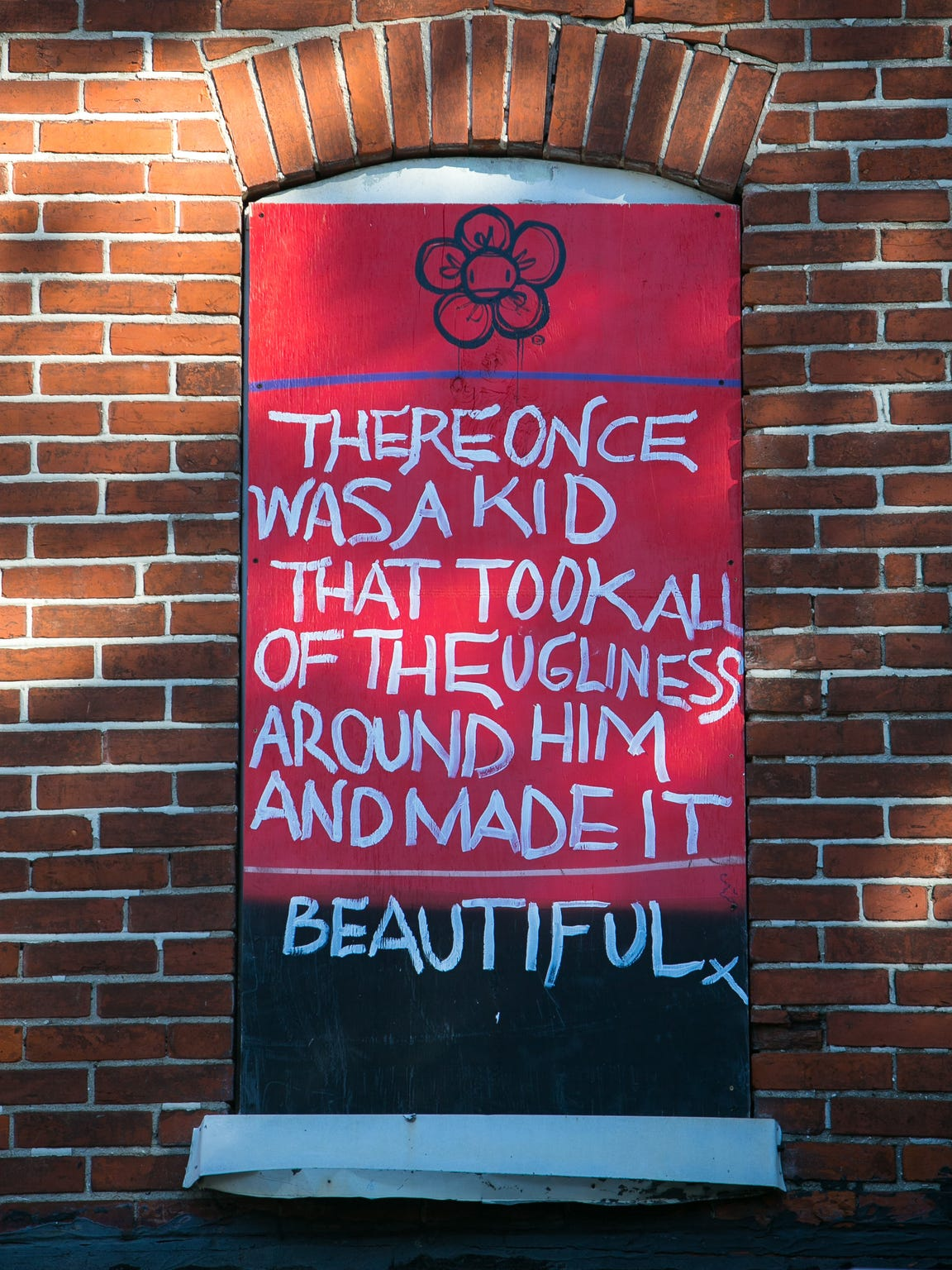 Community art brightens a vacant building in Southbridge.