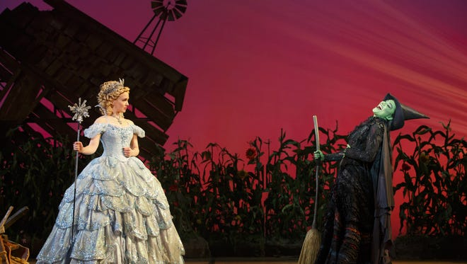 """Kara Lindsay and Laurel Harris in the touring production of """"Wicked."""""""