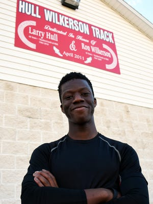 Joshua Akinwumi, a junior at Riverheads High School,