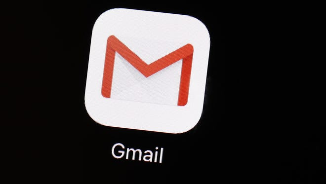 The Gmail app on an iPad in Baltimore.