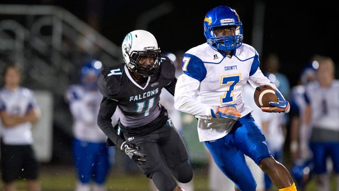 Rising junior George Johnson is one of the top returning players on the Treasure Coast. He was an all-state wide receiver in 2016.