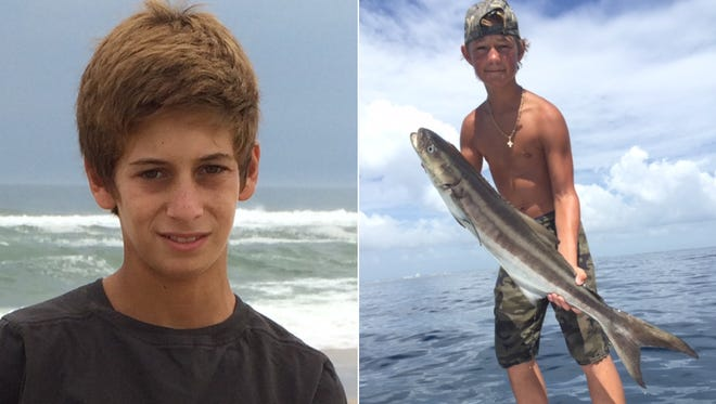 Perry Cohen, left, and Austin Stephanos, both 14 years old.
