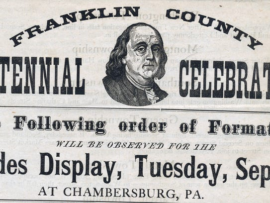 Program for the Franklin County Centennial Celebration