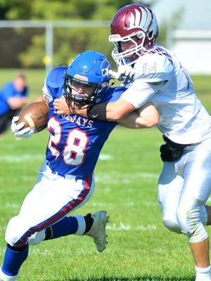 Merrill hosts Medford in a battle for first place in the Great Northern Conference Friday at Jay Stadium.