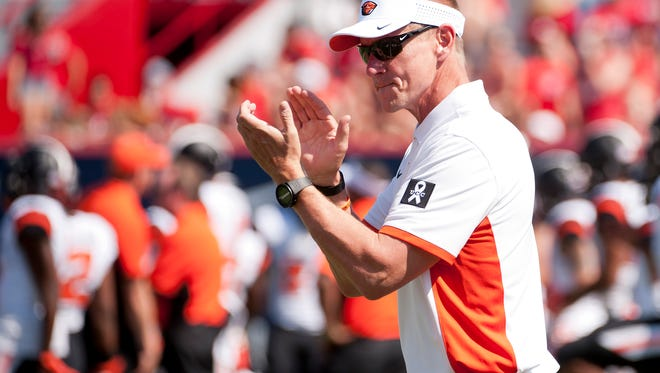 Oregon State football coach Gary Andersen is striving to improve the talent level.